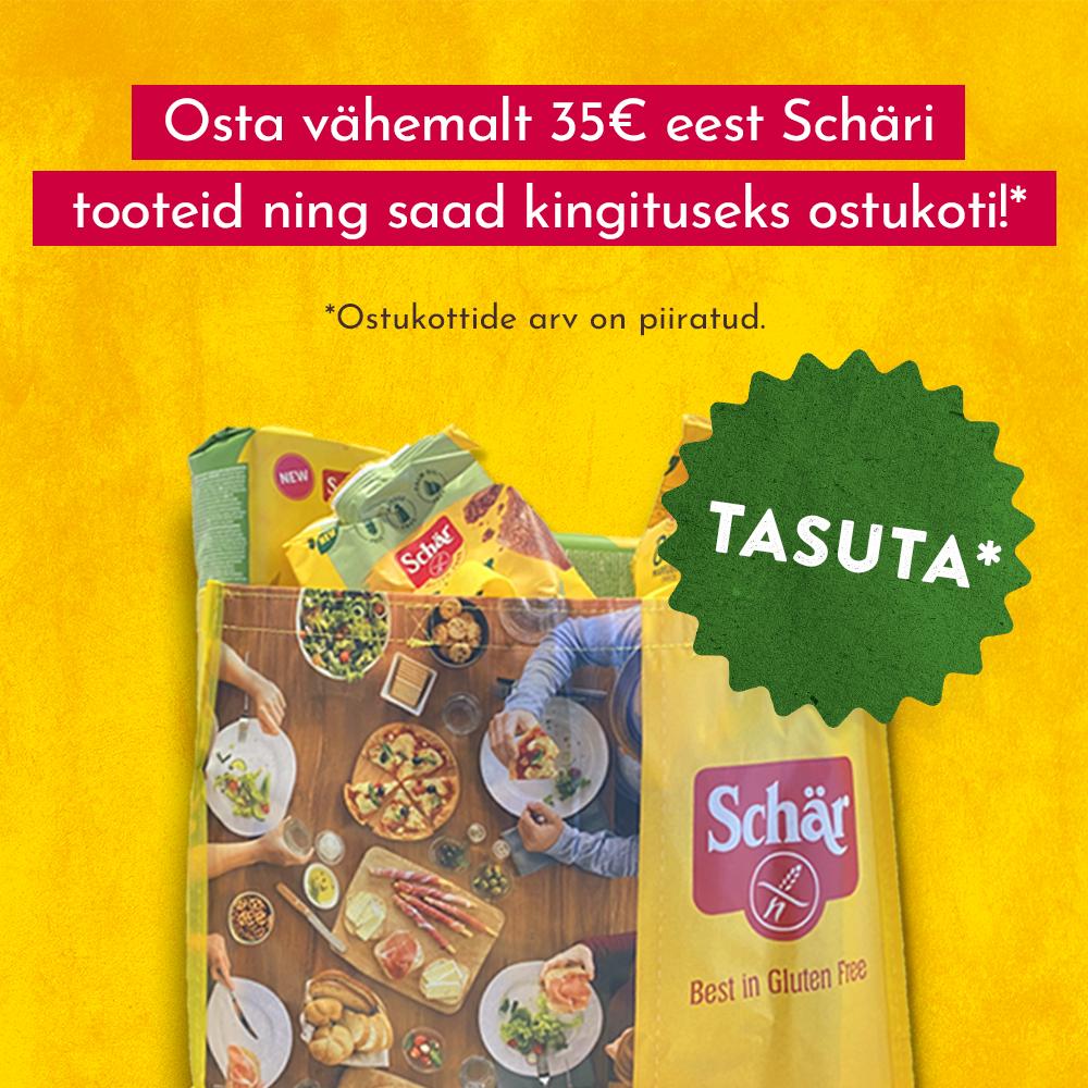 Kingituseks Schäri ostukott kui ostad Schäri tooteid rohkem kui 35 € eest!